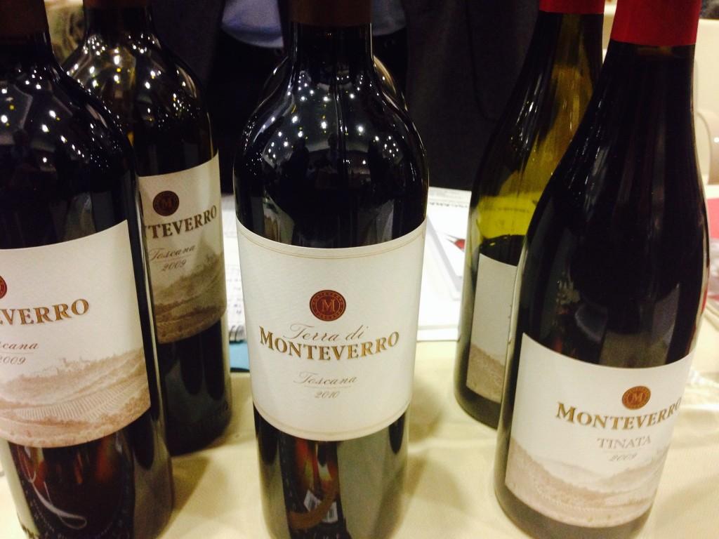 Bottle of Monteverro wine.
